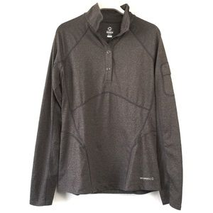 Merrell Brown Gray Long Sleeve Pullover Small